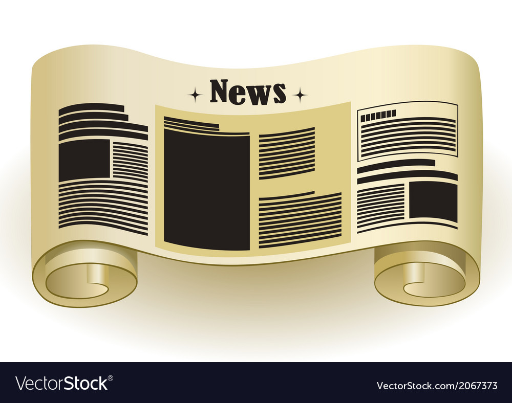 News vintage paper scroll vector | Price: 1 Credit (USD $1)