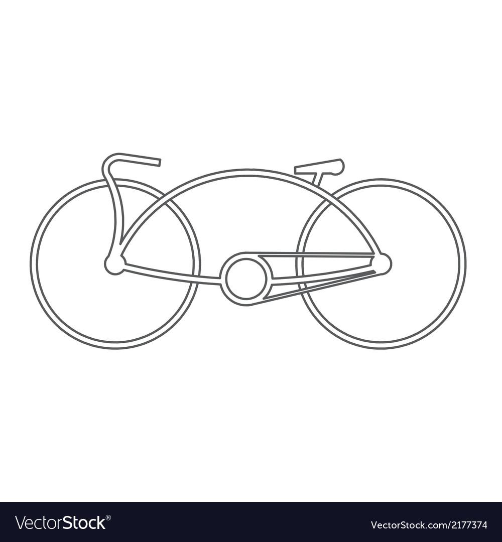 Bicycle symbol design vector | Price: 1 Credit (USD $1)