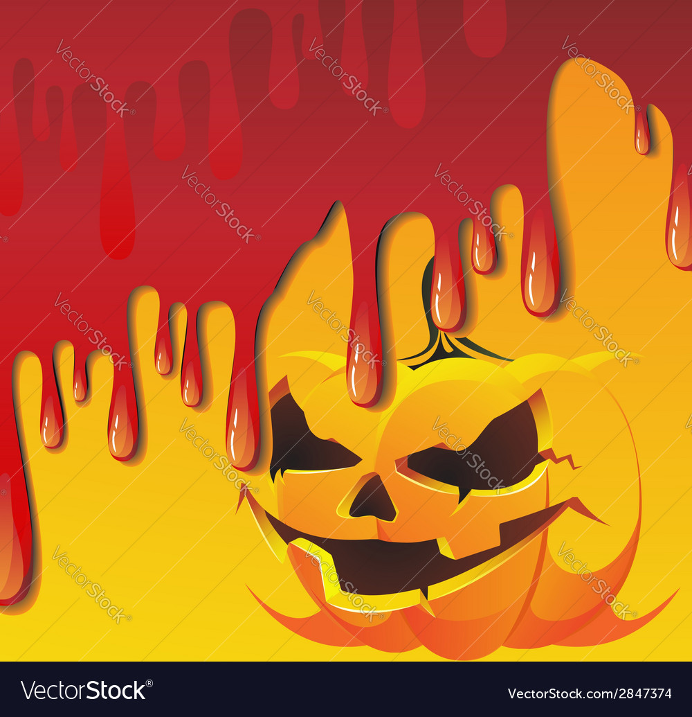 Bloody jack o lantern vector | Price: 1 Credit (USD $1)