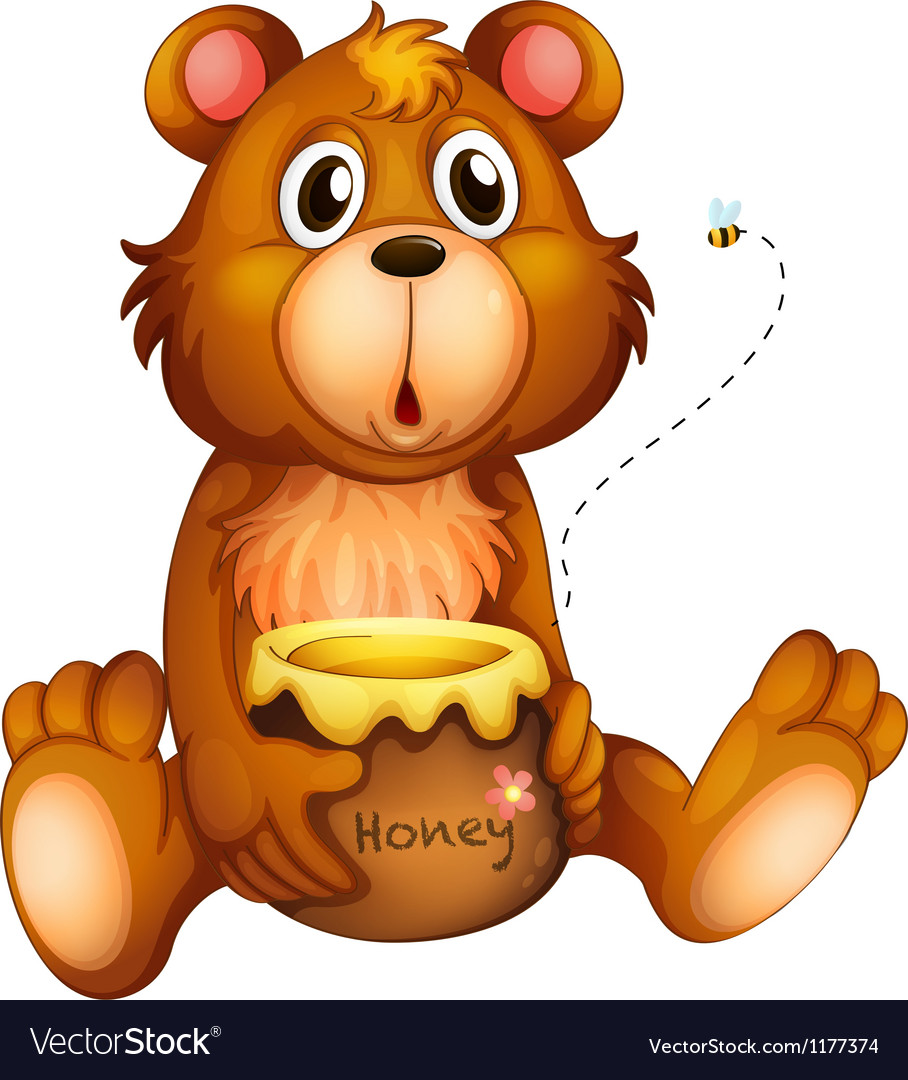 Cartoon honey bear vector | Price: 1 Credit (USD $1)