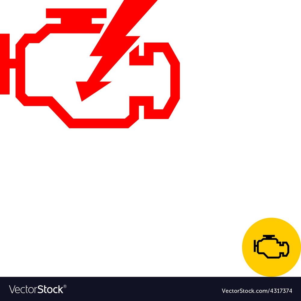 Check engine sign vector | Price: 1 Credit (USD $1)