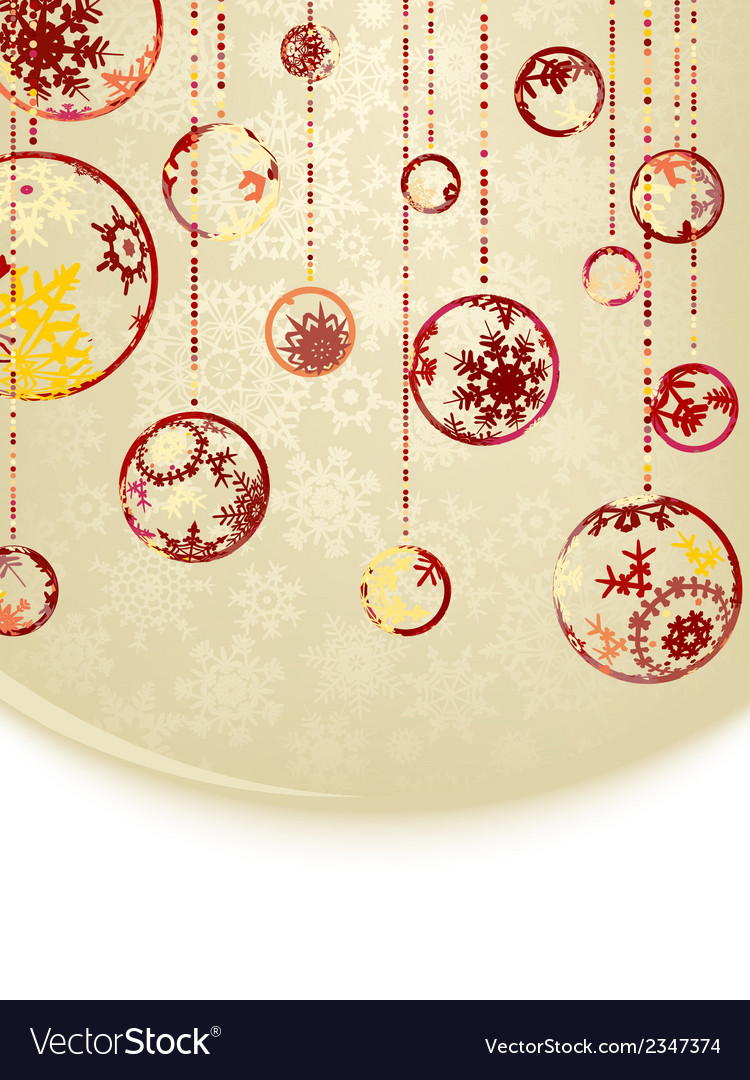 Christmas baubles on gold background eps 8 vector | Price: 1 Credit (USD $1)