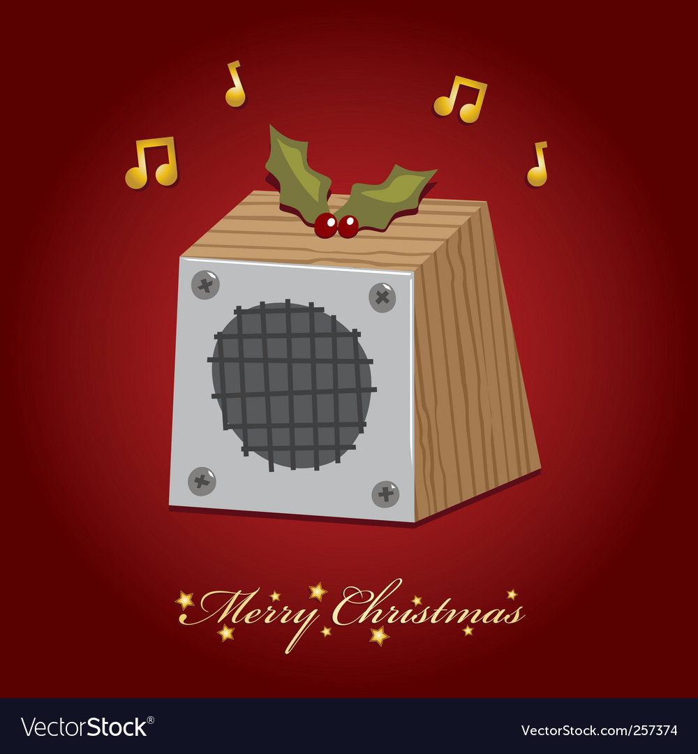 Christmas music speaker vector | Price: 1 Credit (USD $1)
