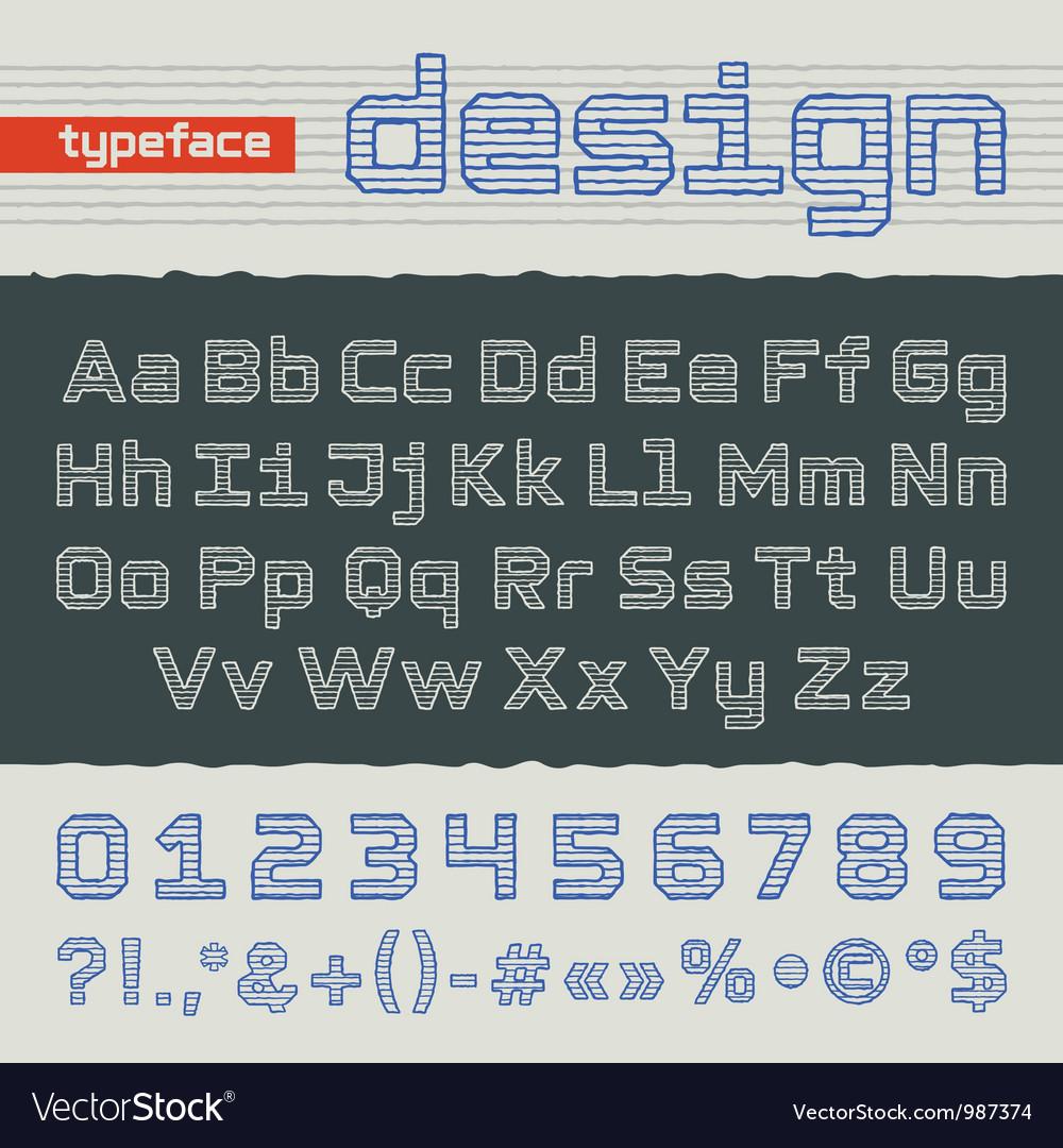 Hand drawing alphabet vector | Price: 1 Credit (USD $1)