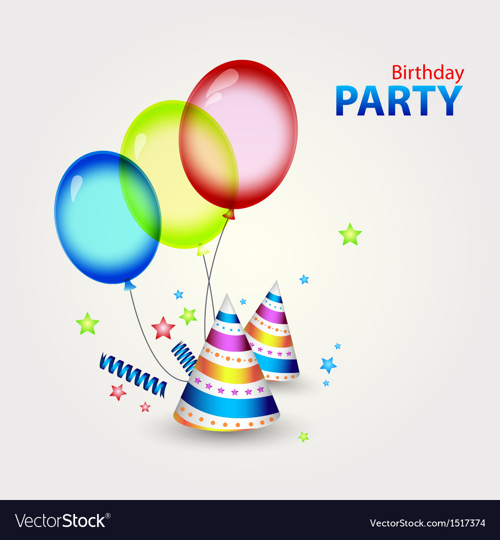 Happy birthday party decor vector | Price: 1 Credit (USD $1)