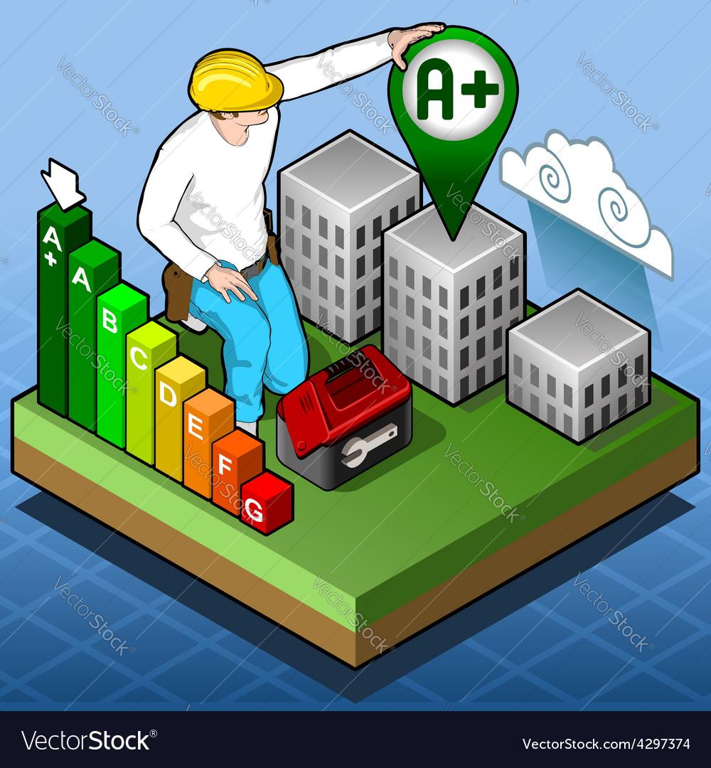 Isometric infographic energy performance vector   Price: 3 Credit (USD $3)