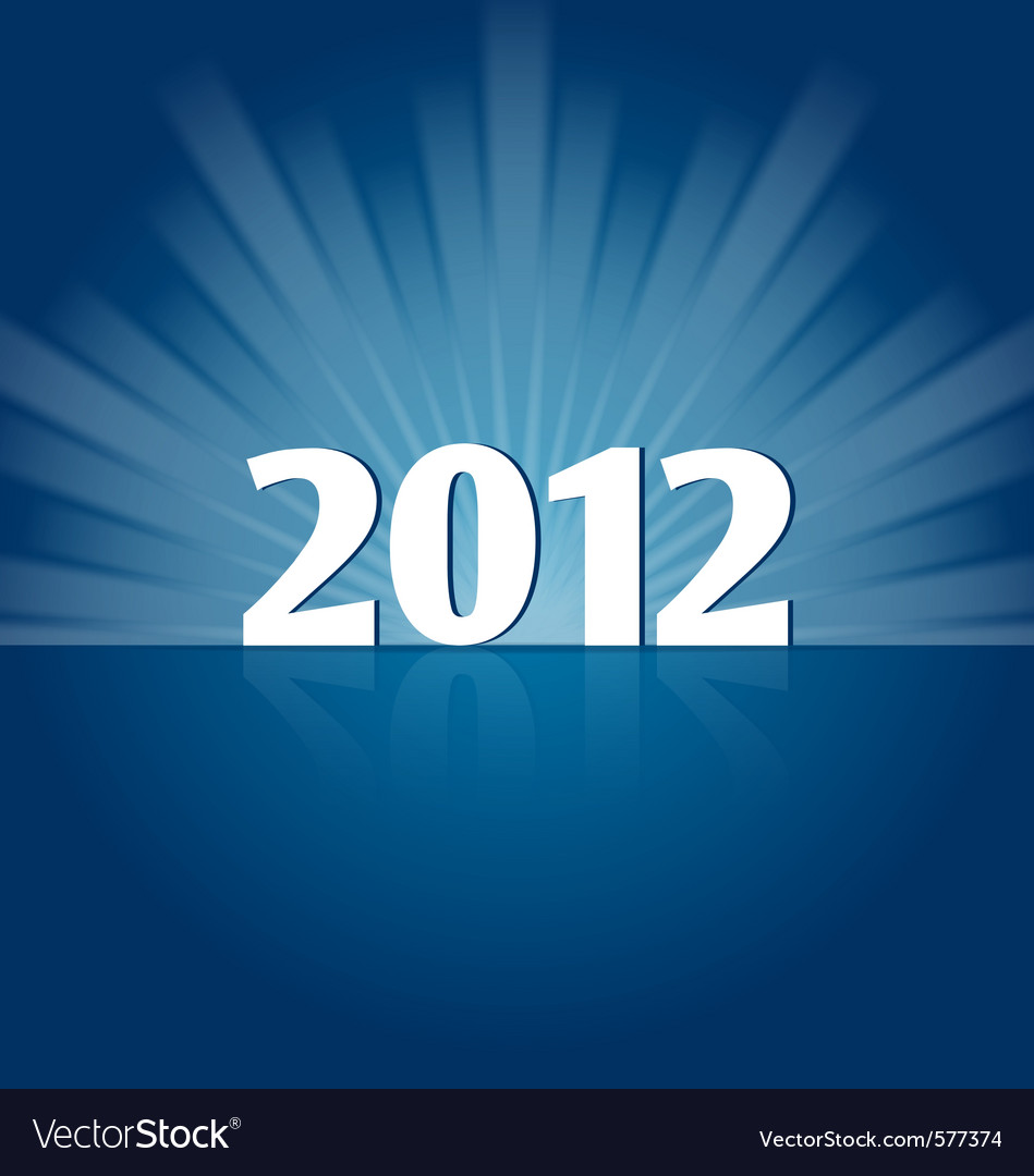 New year 2012 vector | Price: 1 Credit (USD $1)