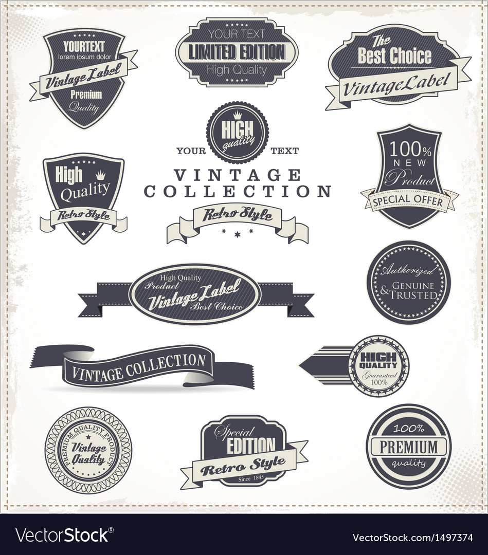 Premium quality labels collection vector | Price: 3 Credit (USD $3)