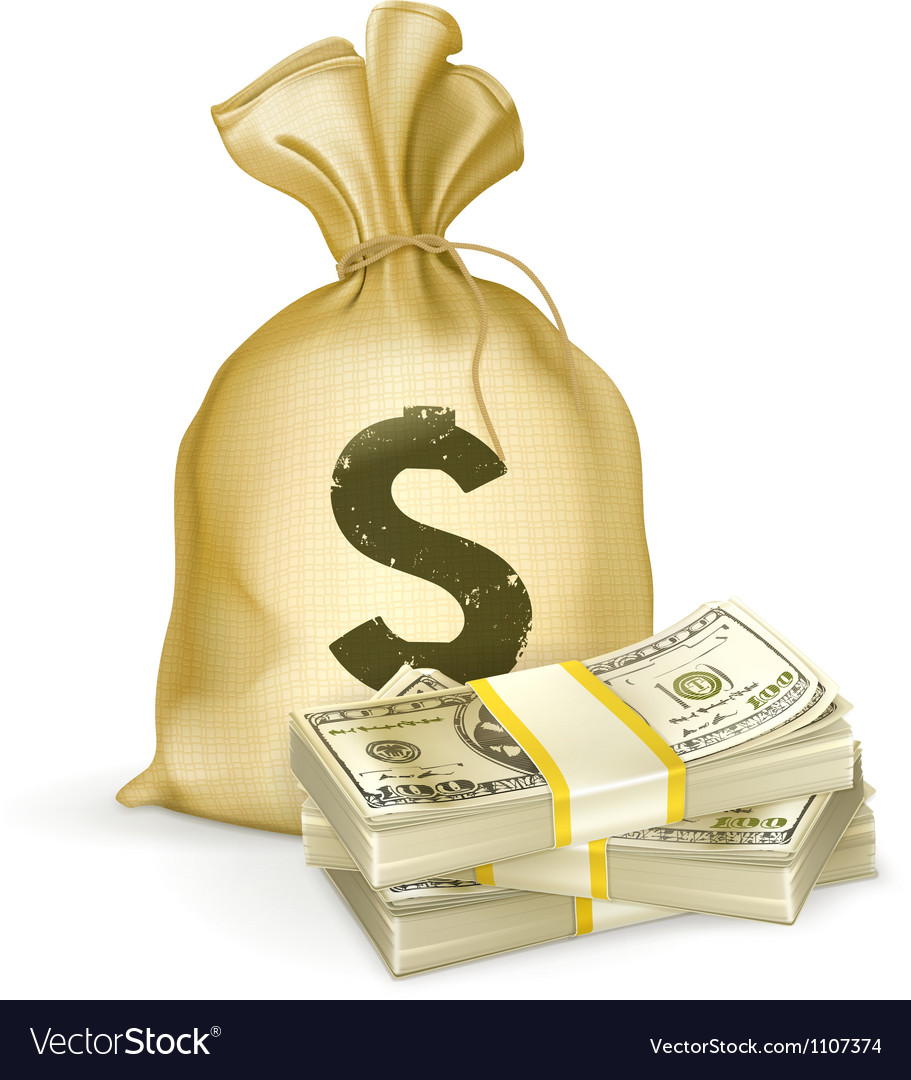 Sack and money vector | Price: 3 Credit (USD $3)