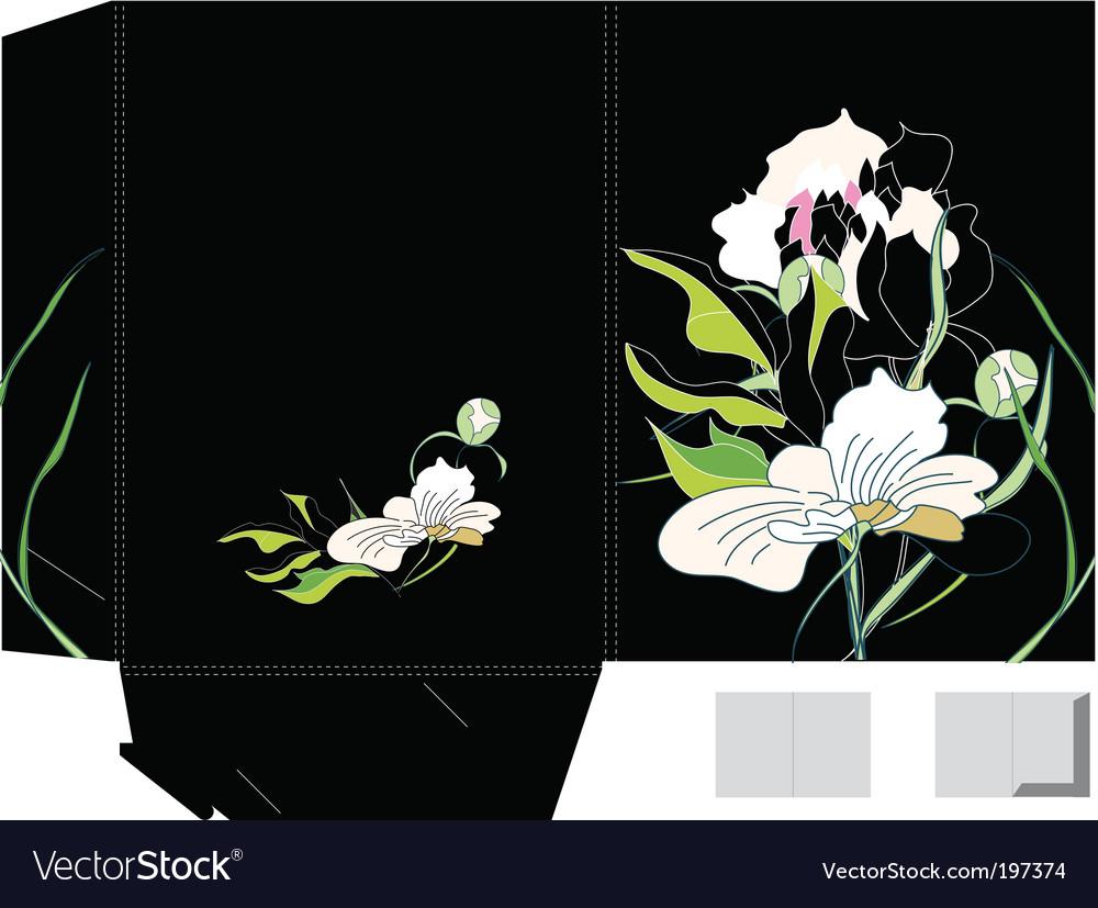 Template for folder design vector | Price: 1 Credit (USD $1)