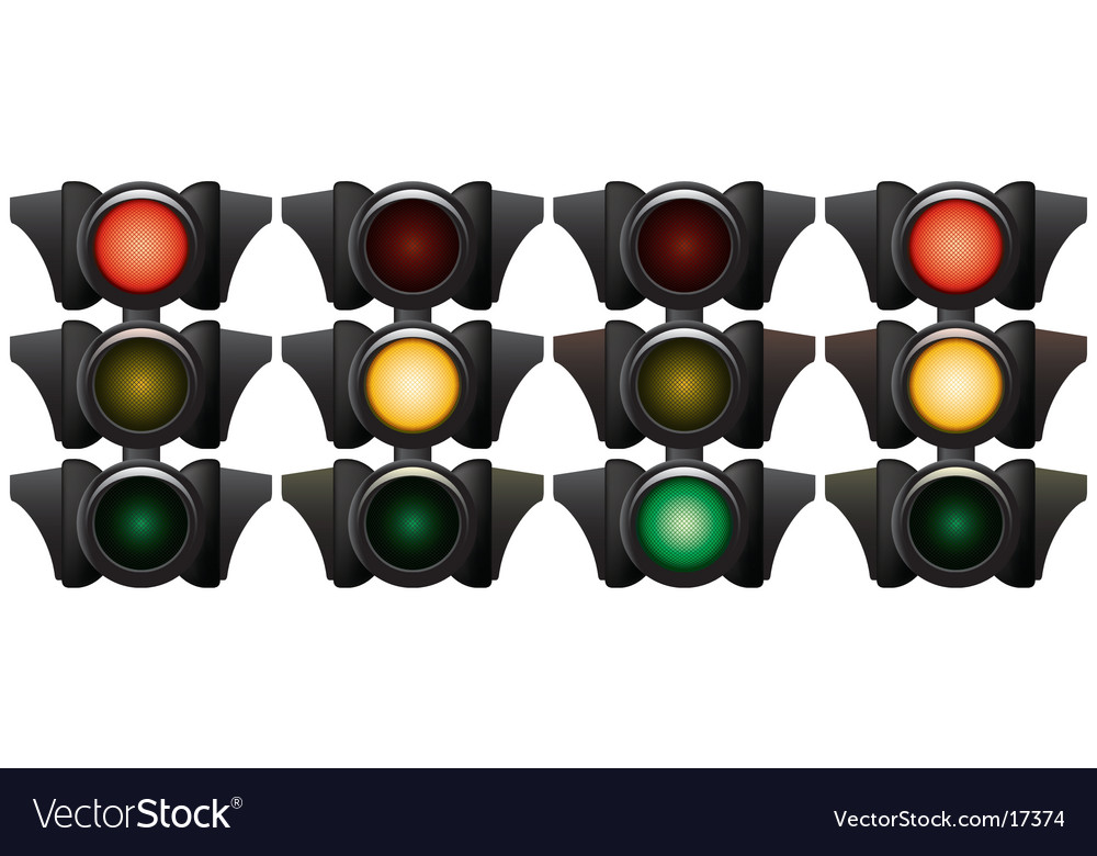 Traffic-light vector | Price: 1 Credit (USD $1)