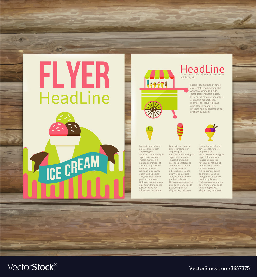 Abstract brochure flyer design template stylish vector | Price: 1 Credit (USD $1)