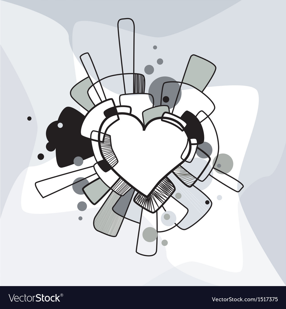 Abstract decorative heart vector | Price: 1 Credit (USD $1)
