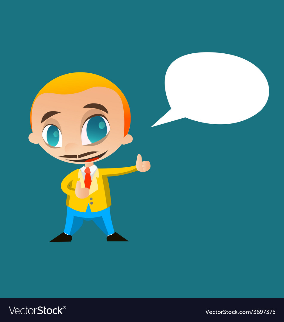 Businessman say something vector | Price: 1 Credit (USD $1)