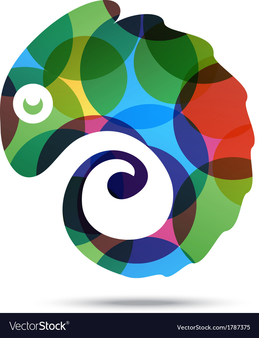 Chameleon abstract business icon vector | Price: 1 Credit (USD $1)