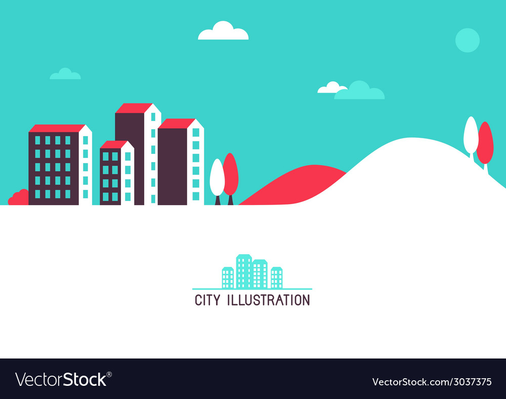 City header vector | Price: 1 Credit (USD $1)