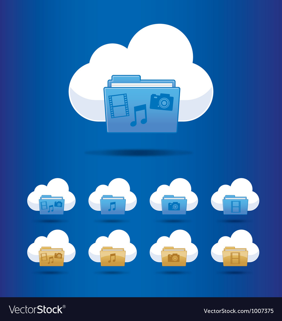 Icons cloud computing vector | Price: 3 Credit (USD $3)