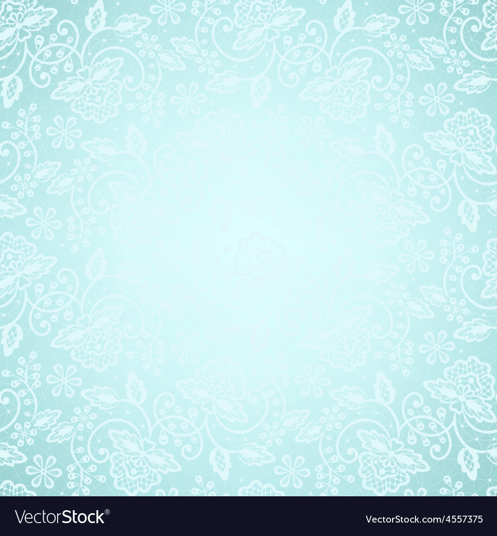 Lace frame on blue background vector | Price: 1 Credit (USD $1)
