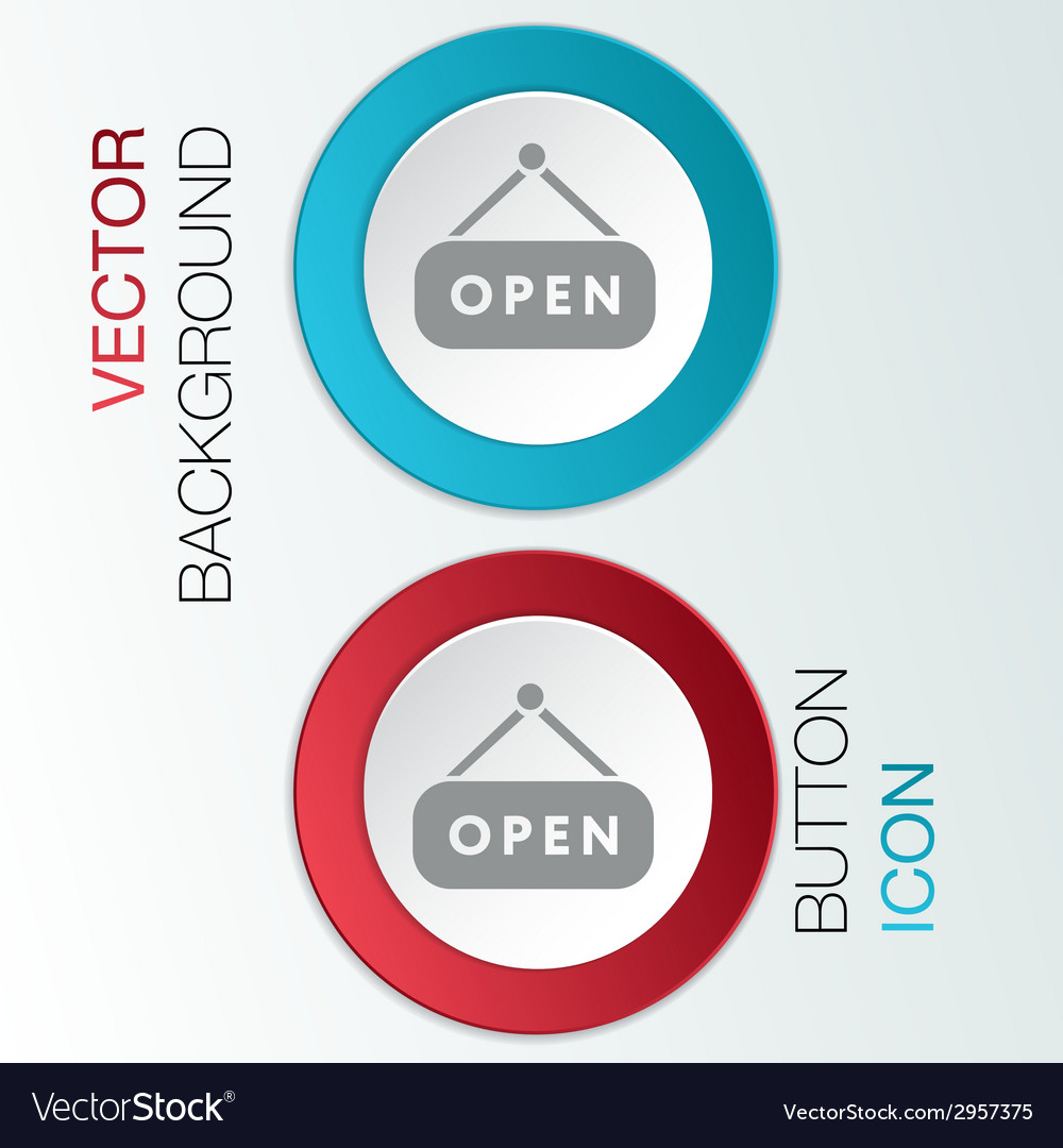 Open label sign vector | Price: 1 Credit (USD $1)