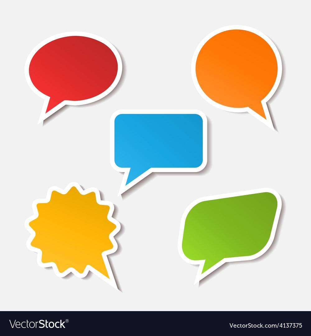 Realistic speech bubble sticker vector | Price: 1 Credit (USD $1)