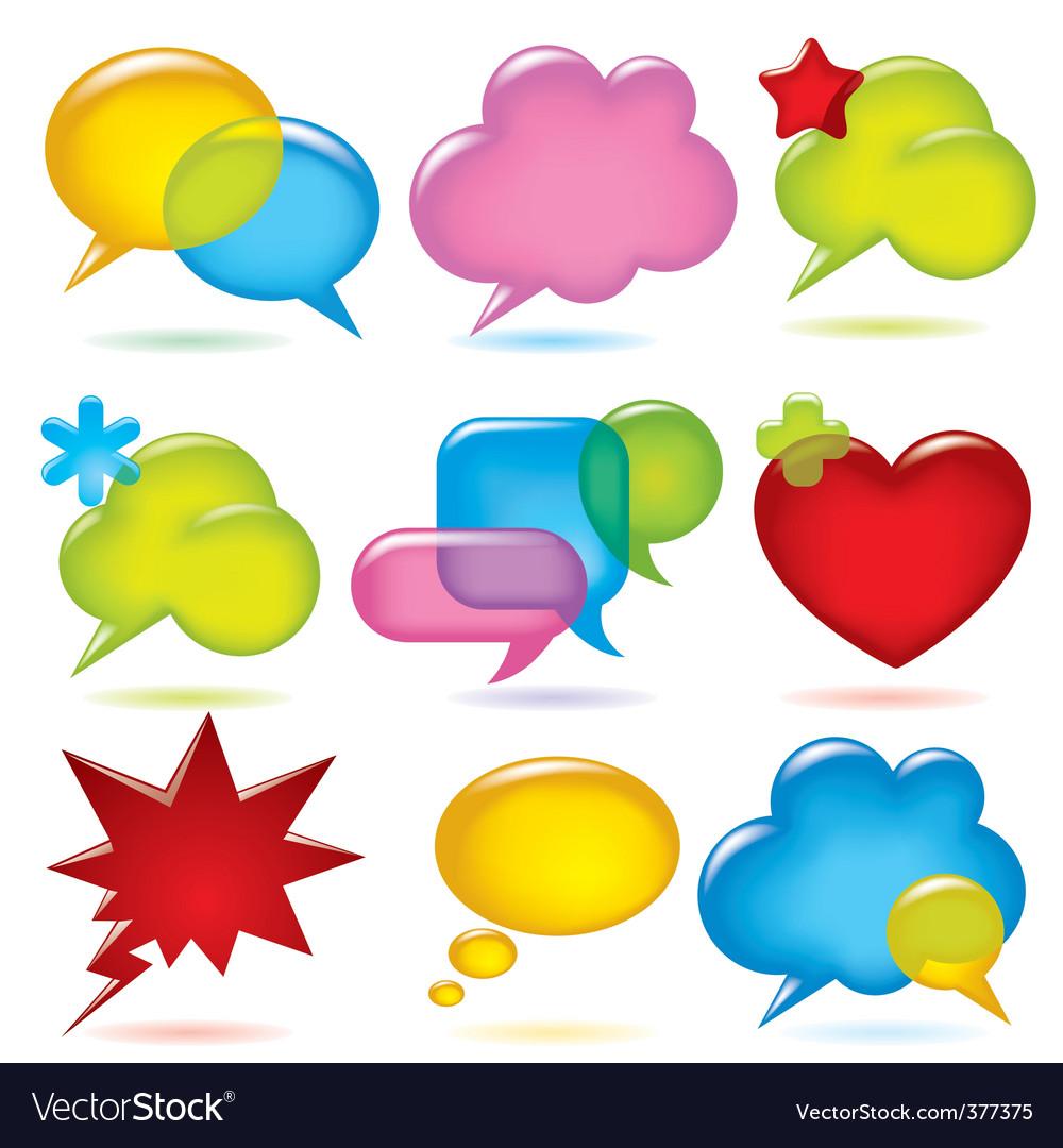Speak bubbles vector | Price: 1 Credit (USD $1)