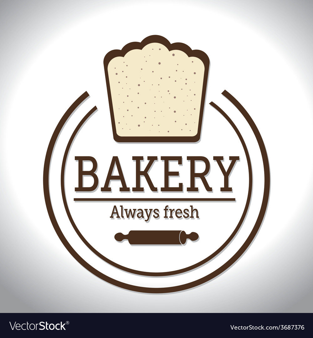 Bakery design over white background vector   Price: 1 Credit (USD $1)