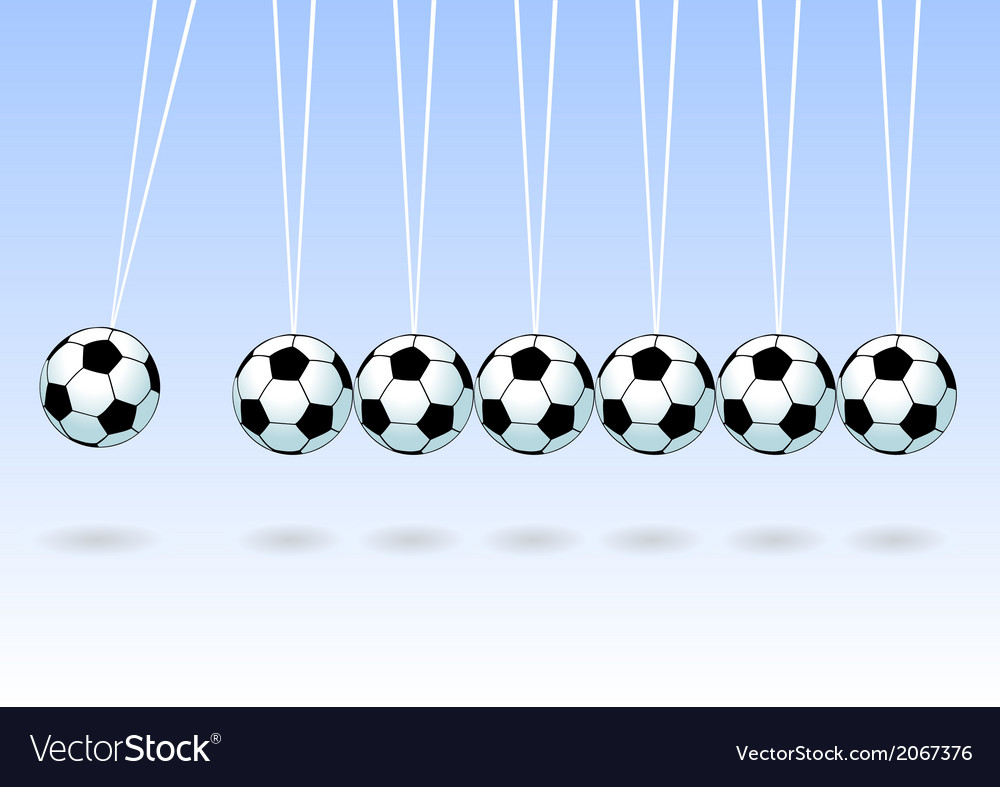 Balancing soccer ball vector | Price: 1 Credit (USD $1)