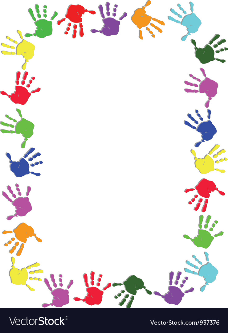 Colorful hand frame vector | Price: 1 Credit (USD $1)