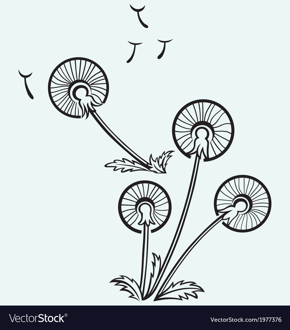 Dandelion on a wind vector | Price: 1 Credit (USD $1)