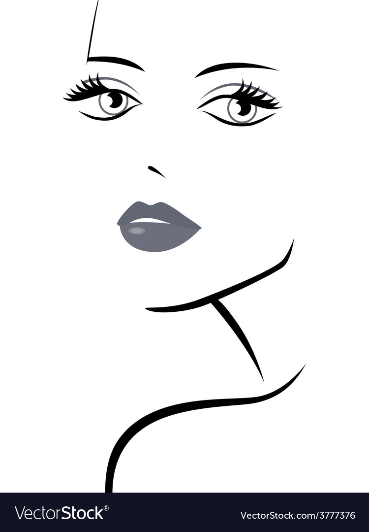 Fashionable girl abstract portrait vector | Price: 1 Credit (USD $1)