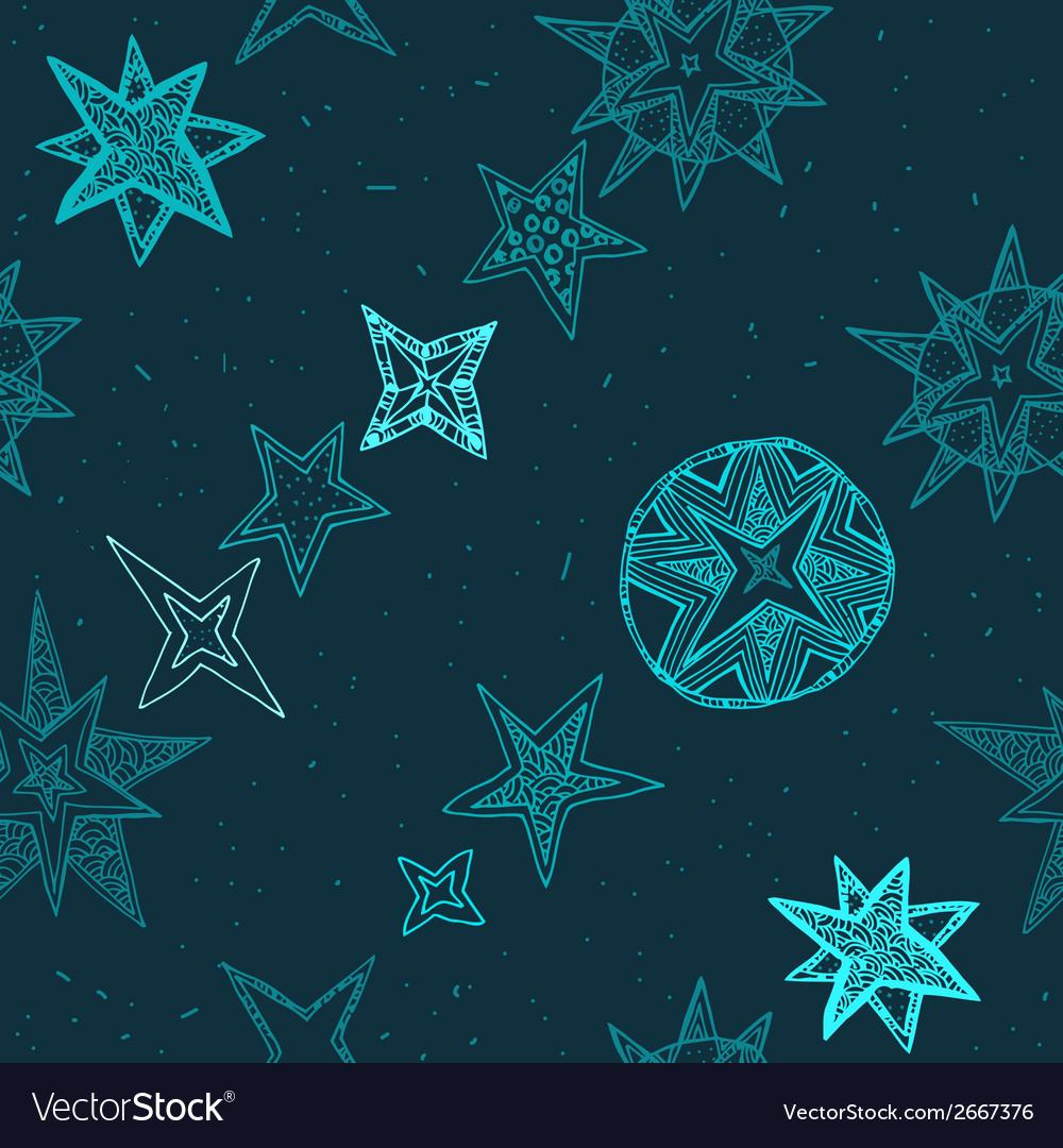 Hand drawn stars vector | Price: 1 Credit (USD $1)