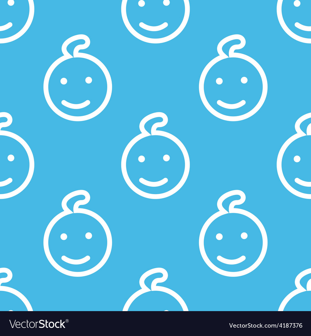 Kid seamless pattern vector | Price: 1 Credit (USD $1)