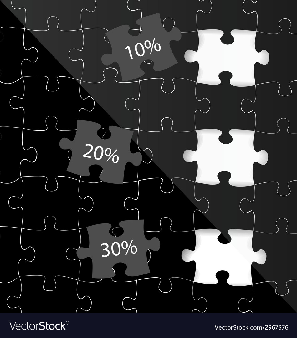Modern infographics template style business puzzle vector   Price: 1 Credit (USD $1)