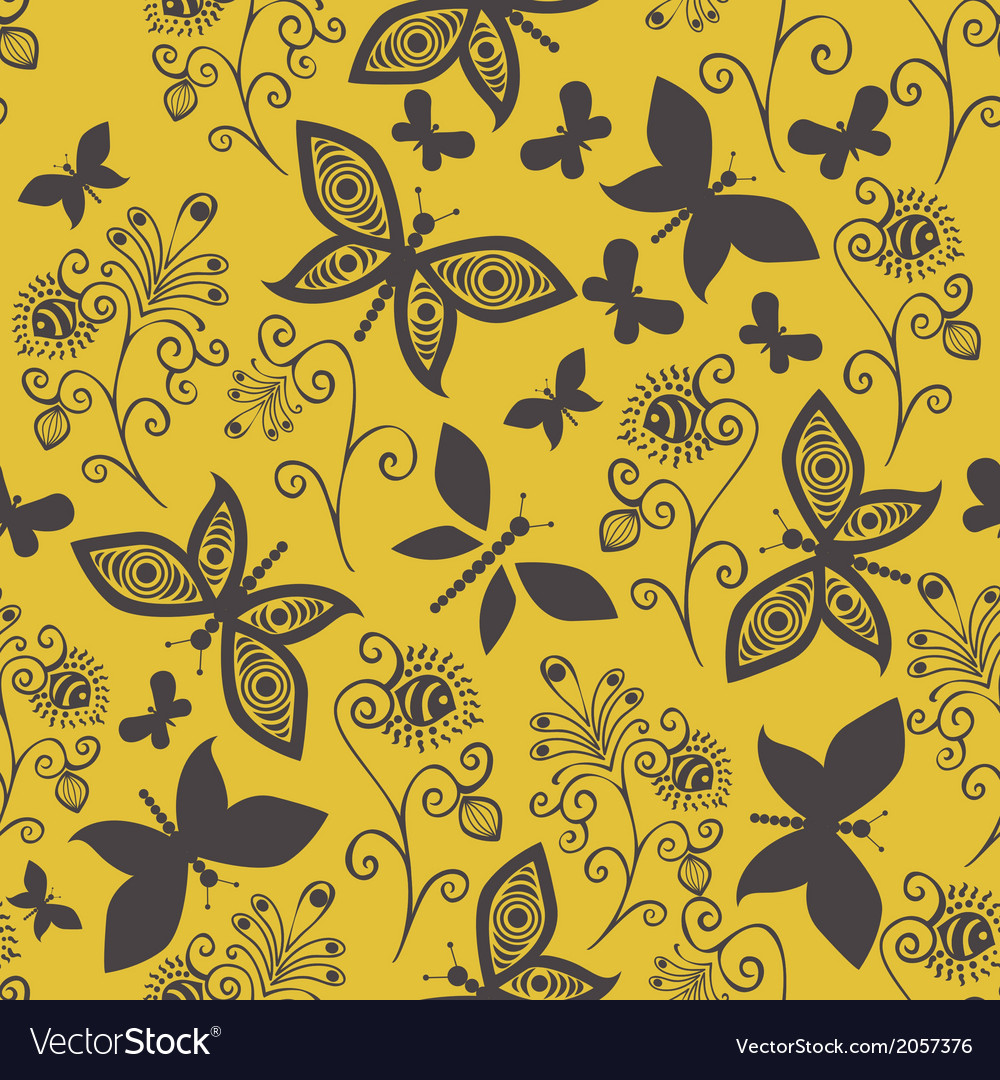 Romantic butterfly seamless pattern vector | Price: 1 Credit (USD $1)