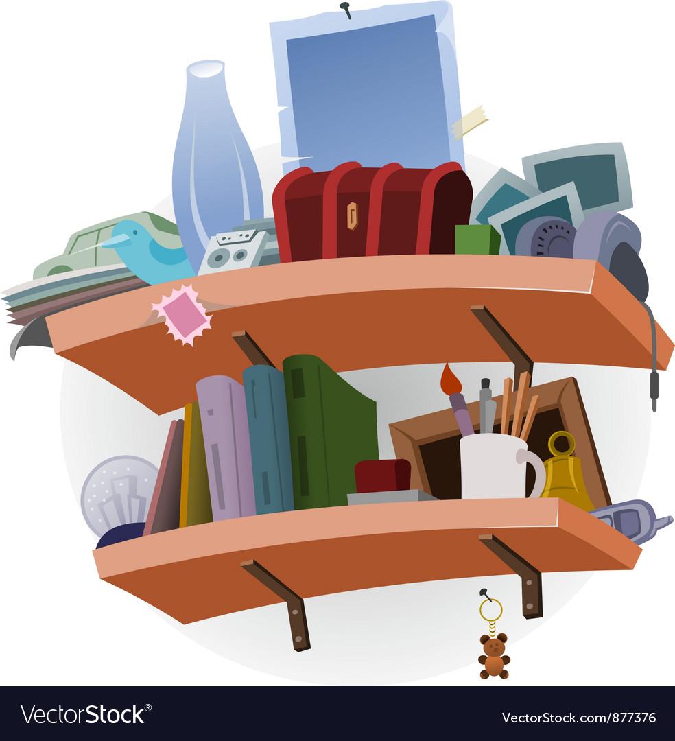 Shelf full of stuff vector | Price: 1 Credit (USD $1)