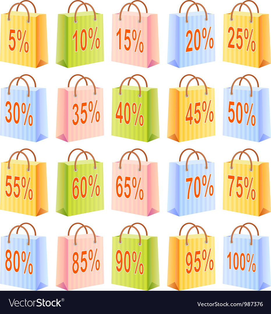 Shopping bags and discount vector   Price: 1 Credit (USD $1)