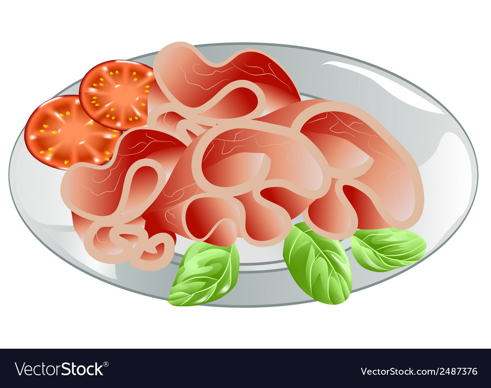Sliced ham vector | Price: 1 Credit (USD $1)