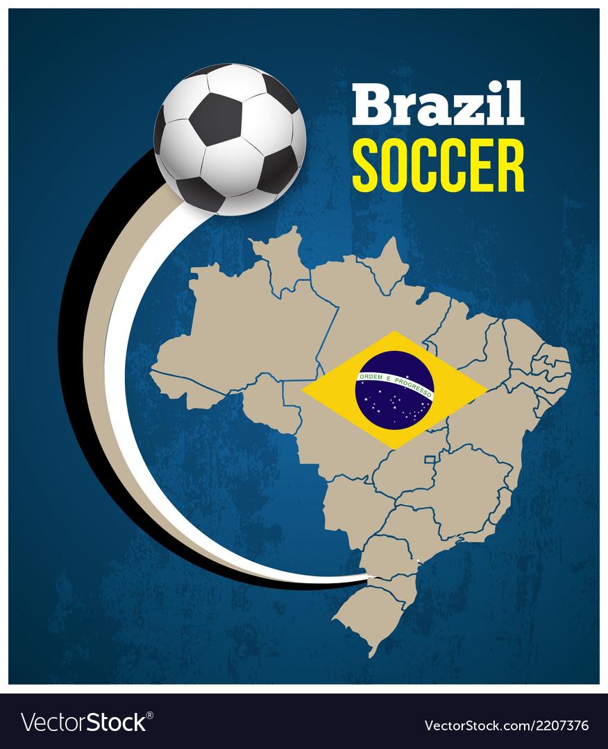 Soccer poster brazil vector   Price: 1 Credit (USD $1)