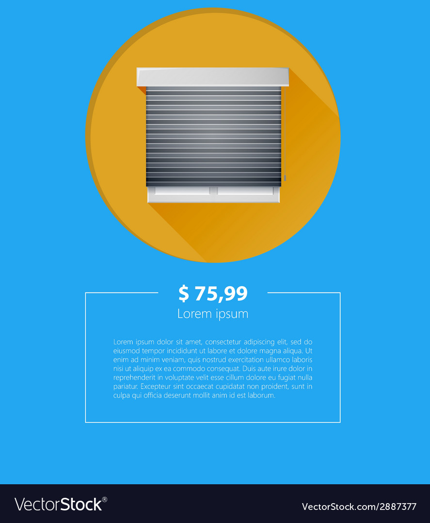 Ad layout for sale of window with roller shutters vector | Price: 1 Credit (USD $1)