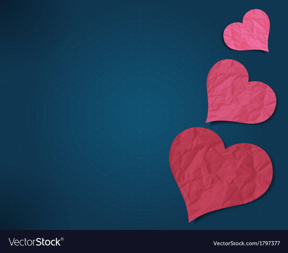 Hearts from old paper vector | Price: 1 Credit (USD $1)