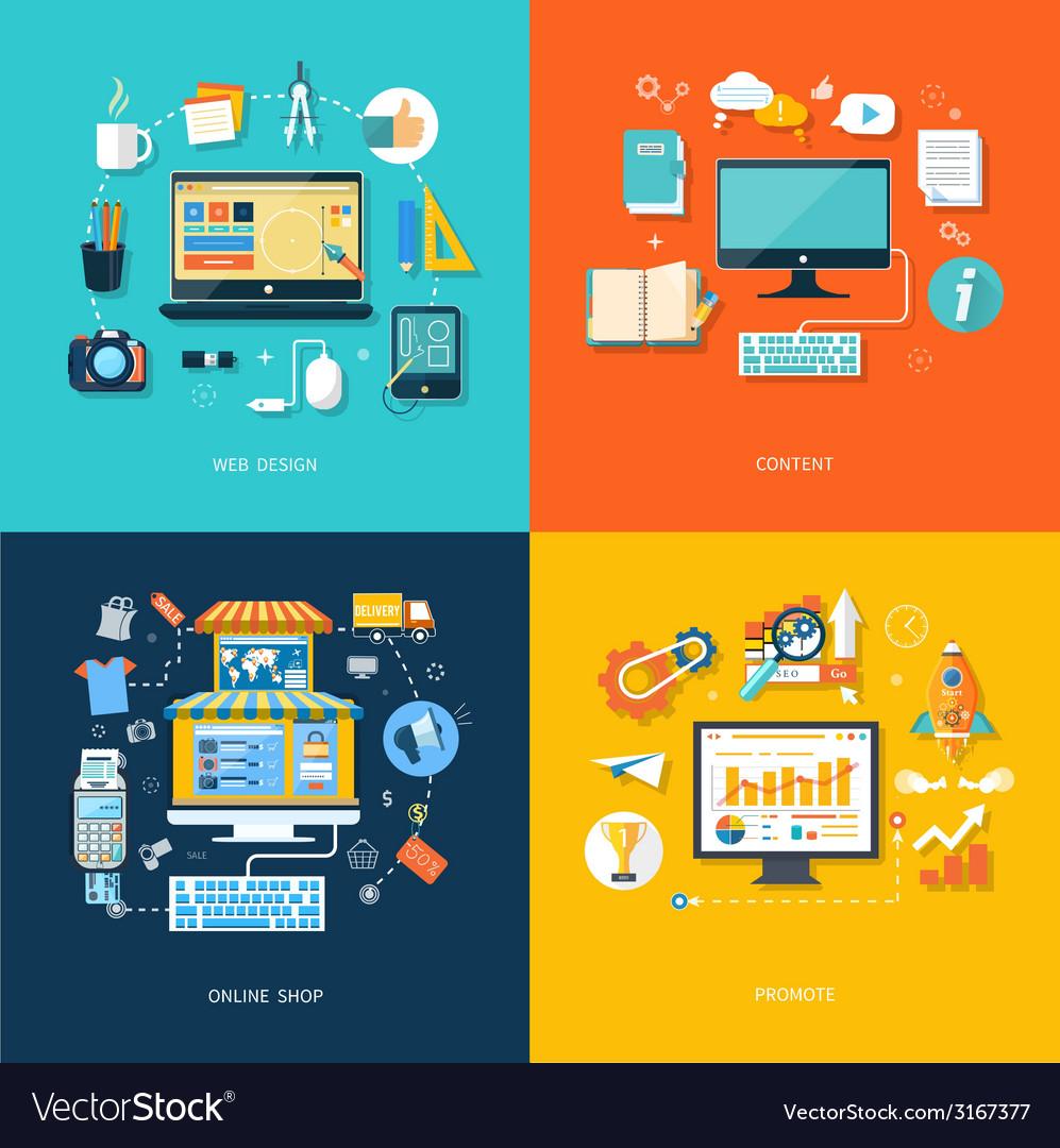 Internet shopping web design promote content vector   Price: 1 Credit (USD $1)
