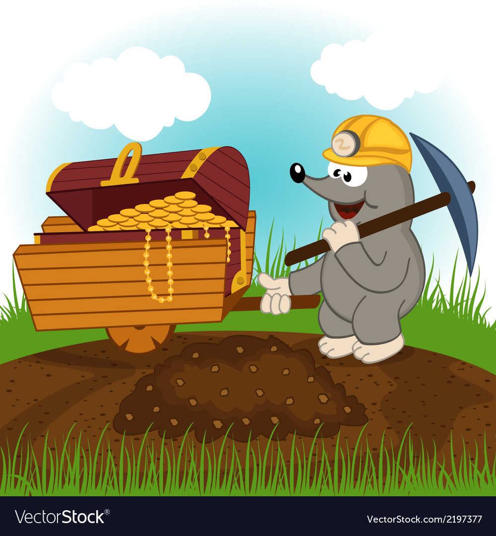 Mole dug treasure vector | Price: 1 Credit (USD $1)
