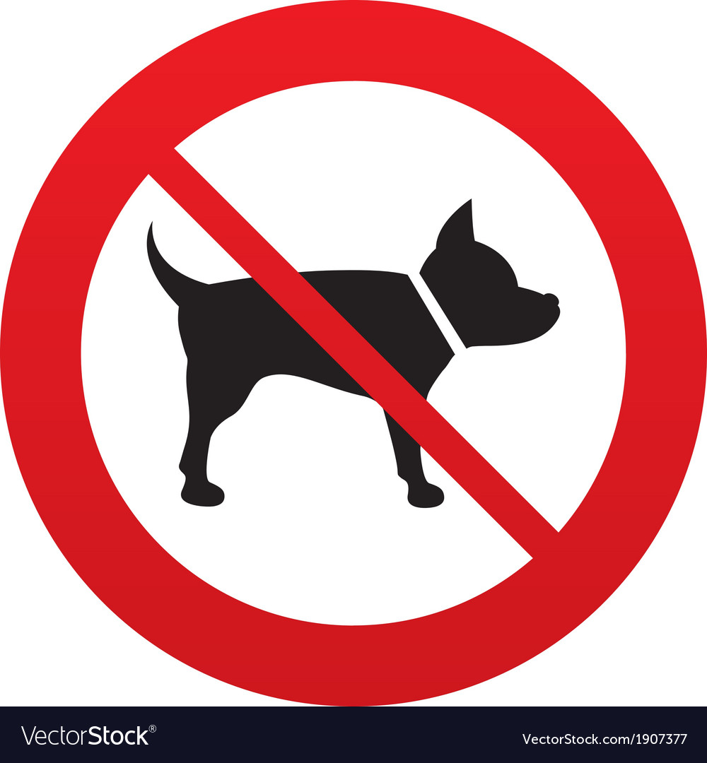 No dog sign icon pets symbol vector | Price: 1 Credit (USD $1)