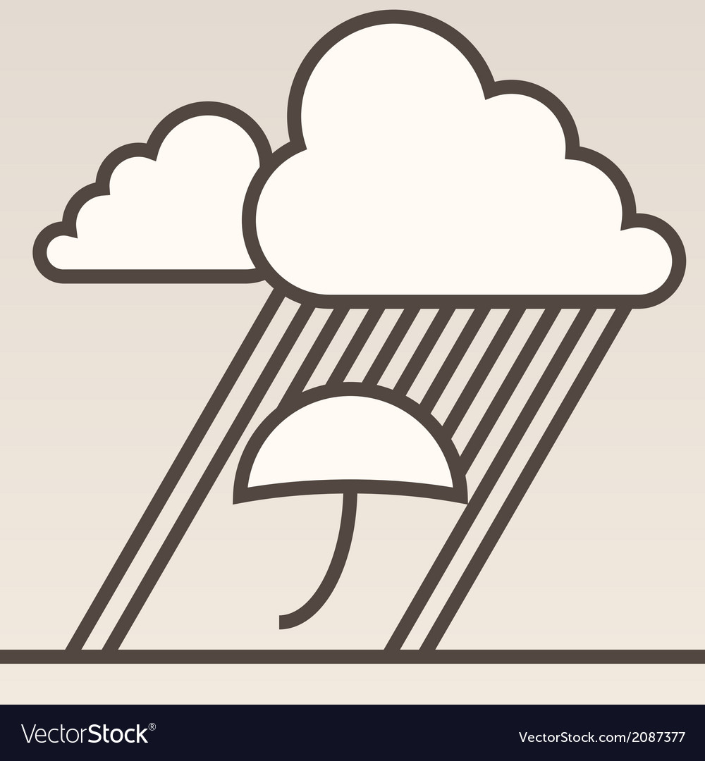 Rain background vector | Price: 1 Credit (USD $1)