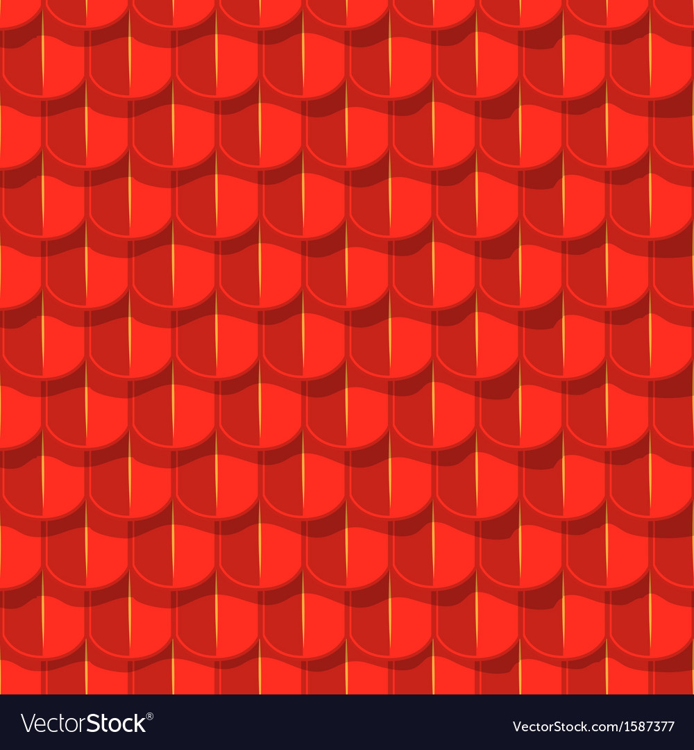 Seamless background red tile roof vector | Price: 1 Credit (USD $1)