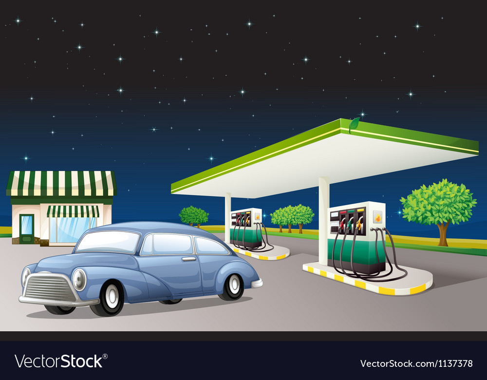 A house and a gas station vector | Price: 1 Credit (USD $1)