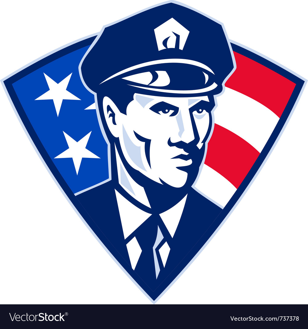 American police officer vector | Price: 1 Credit (USD $1)