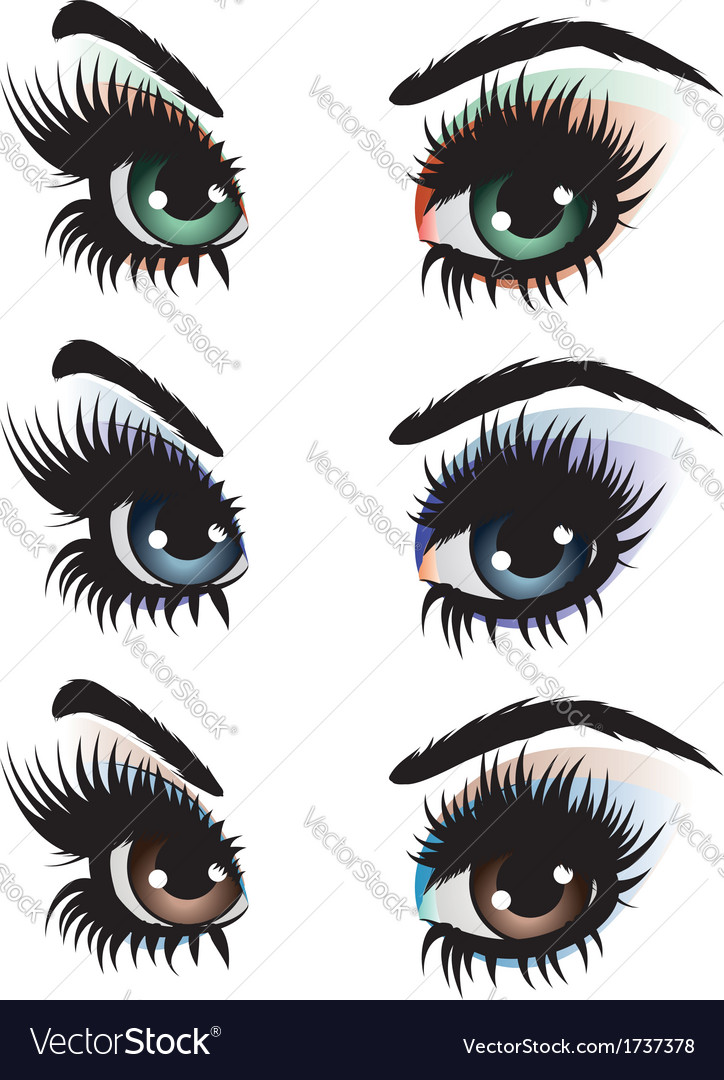 Evening eye make up vector | Price: 1 Credit (USD $1)