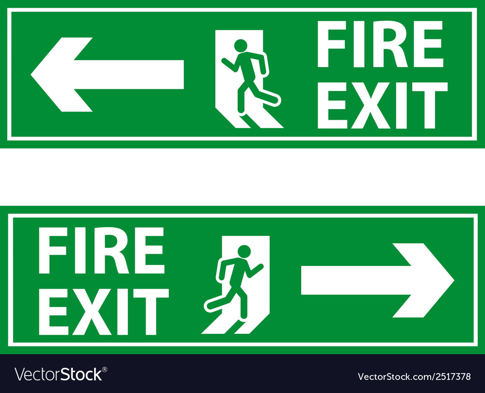 Fire exit 2 vector | Price: 1 Credit (USD $1)