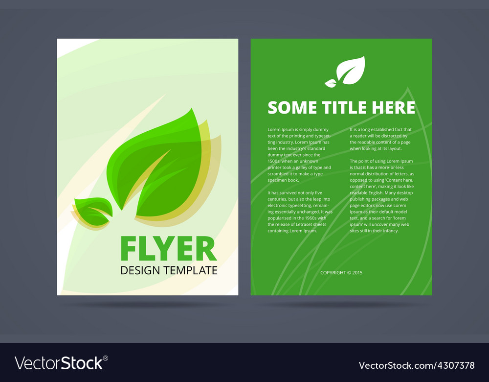 Flyer template - ecological product vector | Price: 1 Credit (USD $1)